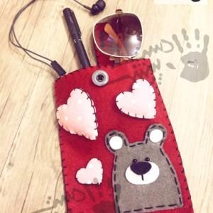 کیف نمدی خرس عاشق
