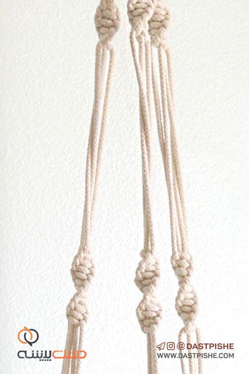 بافت عالی آویز گلدان شماره 18