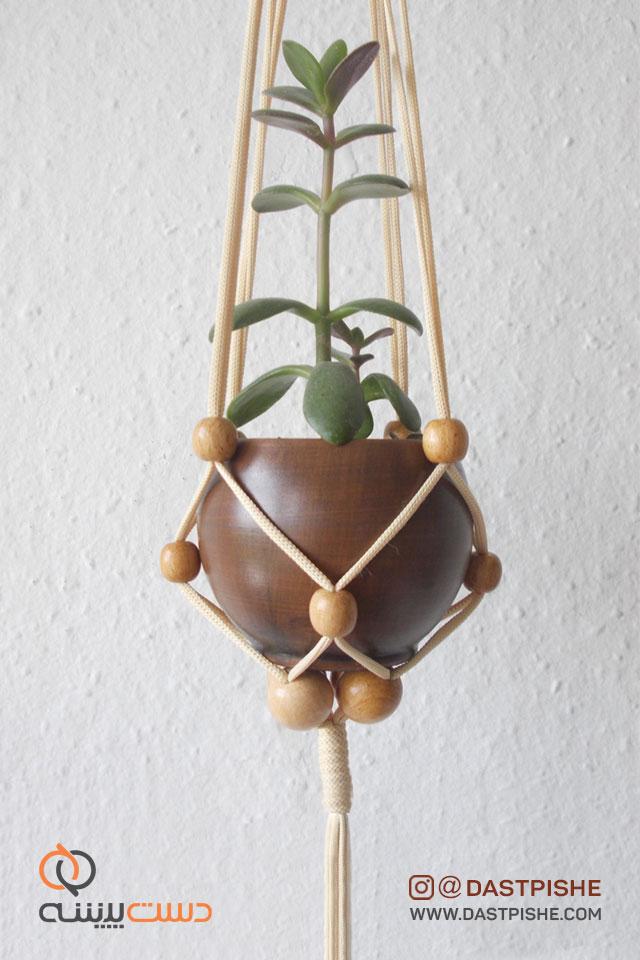 قیمت آویز گل و گیاه بافتنی جدید