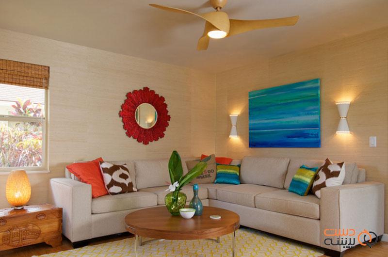 ترکیب رنگی کوسن مدرن برای مبلمان داخلی